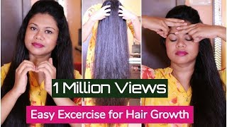 Easy Exercises For Extreme Hair Growth & Cure Baldness | Sushmita