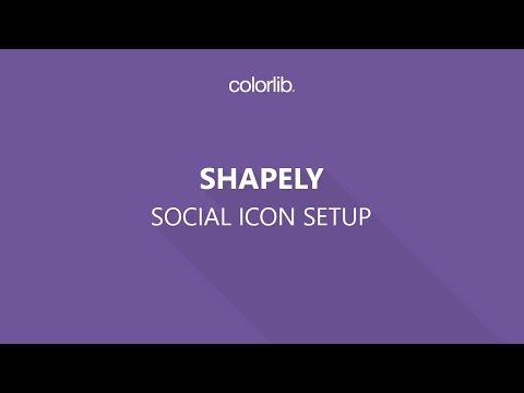 Social Media Icon Setup For Shapely WordPress Theme
