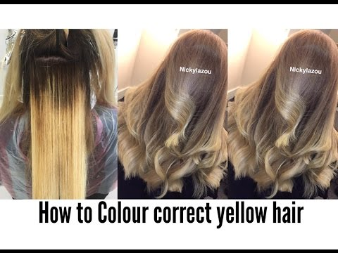 HOW TO COLOUR CORRECT YELLOW HAIR | BALAYAGE CORRECTION | NICKY LAZOU