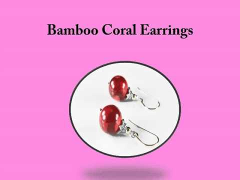 popular jewelery items of bamboo coral gemstone
