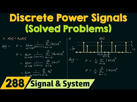 Discrete Time Power Signals (Solved Problems)