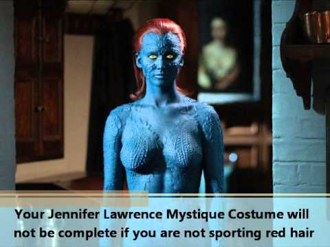 Jennifer Lawrence Mystique Costume.wmv