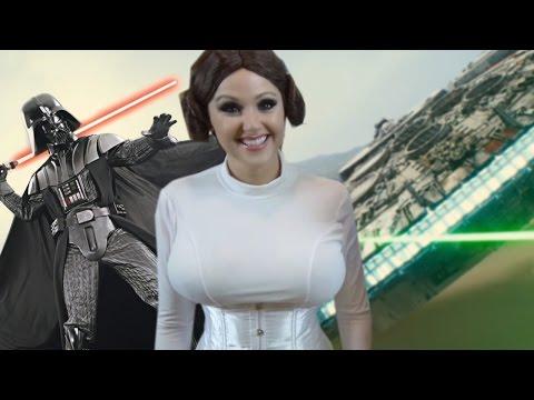 Star Wars DIY - Princess Leia Hologram Phone Hack - RIP Carrie Fisher