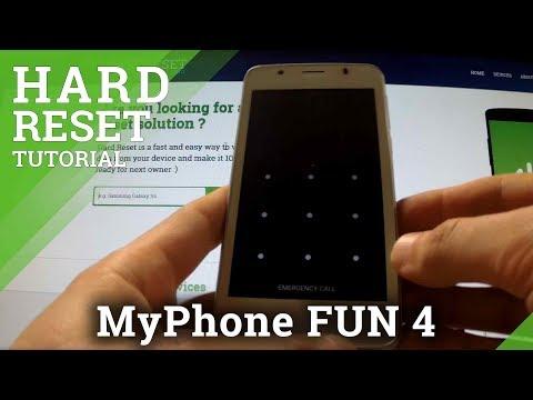 Hard Reset myPhone FUN 4 - remove pattern and password