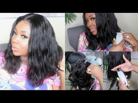 Clipper Cut BOB Quick Weave Lace Wig   Start To Finish Hair Tutorial   Feat. New Star