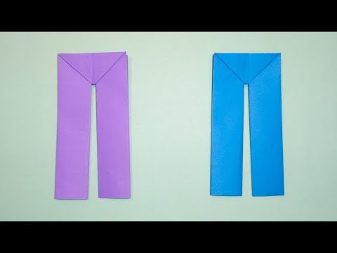 How to Make Paper Pants | Easy Origami Pant and Trousers Crafts Making Tutorial