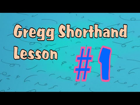 Gregg Shorthand Letters #1