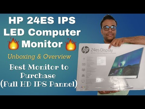 HP 24ES 23.8-inch LED Monitor - Unboxing & Overview 🔥🔥🔥