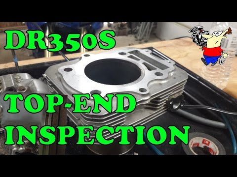 DR350S TOP END INSPECTION       -1786-