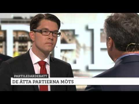 Jan Björklund utmanar Jimmie Åkesson - Nyheterna (TV4)