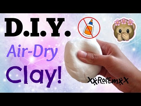 D.I.Y. Air-Dry Clay | How to Make Clay Without GLUE! {AMAZING TWO INGREDIENT RECIPE!}