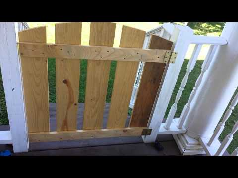 DIY easy gate for porch or baby gate tutorial