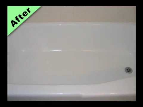 Fiberglass Bathtub Refinishing Video - Make your bath tub new again!