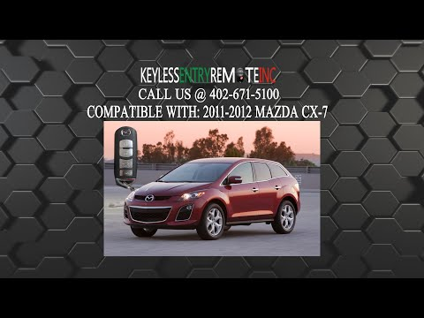 How To Replace Mazda CX 7 Key Fob Battery 2011 2012