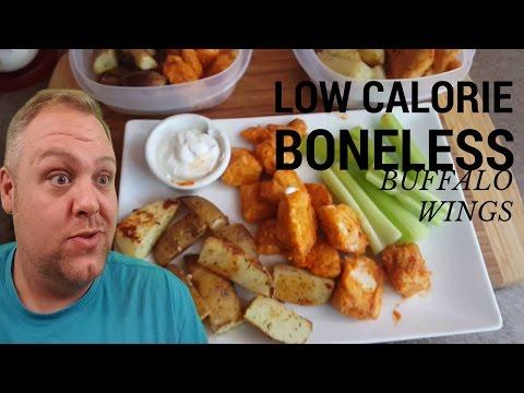 Low Calorie Boneless Buffalo Chicken Wing | MEAL PREP
