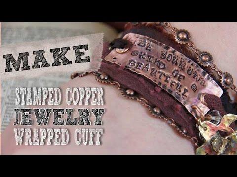 Mixed Media Monday - Make a Stamped Metal Bracelet