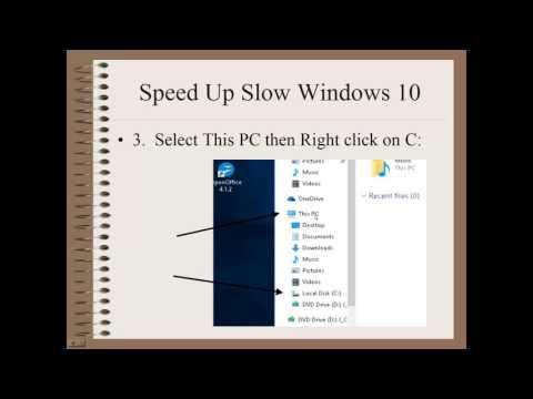 Speed Up Slow Windows 10