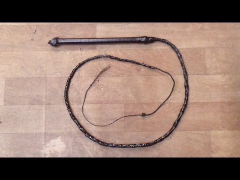 How to make your own Bullwhip Tutorial DIY
