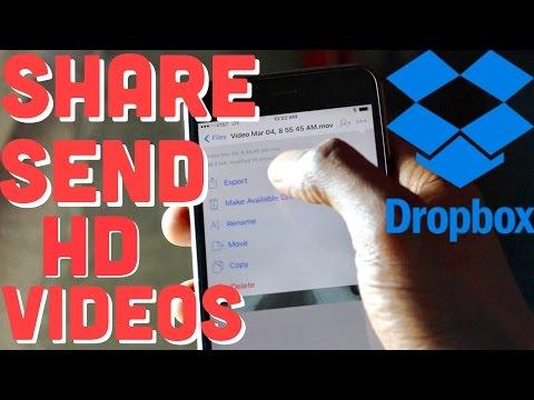 How To Share HD Videos In Full Resolution Using Dropbox