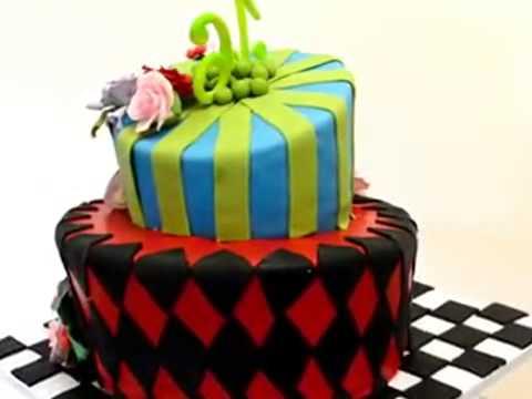 How to make cake Alice and Wonderland Theme cake