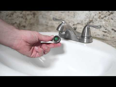 How to fix a facet aerator