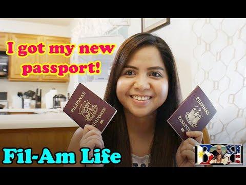 Filipina-American Couple | PHILIPPINE PASSPORT RENEWAL | Vlog#30