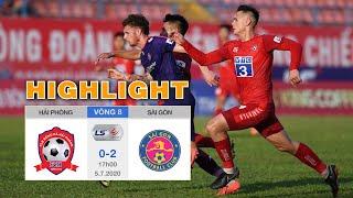 Highlights Hải Phòng vs Sài Gòn - Siêu phẩm sút phạt giúp Sài Gòn tiếp tục bay cao