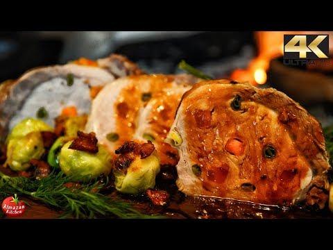 Primitive Cooking - Stuffed Pork Chop Recipe