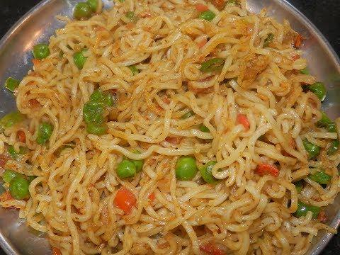Maggi masala veg Noodles (Non- sticky) recipe/ How to make non sticky maggi noodles