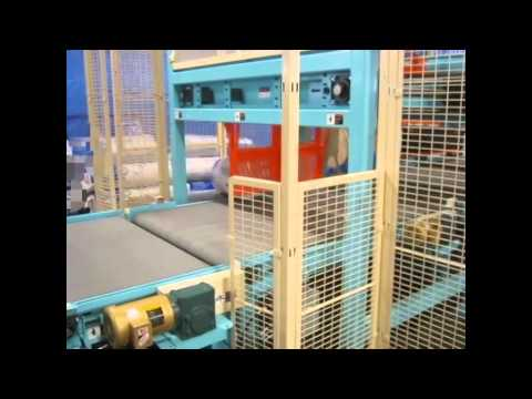 Belt Conveyor with Squaring Stop and Reject Paddle / Overhead Pusher