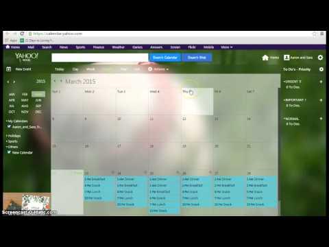 Syncing google calendar with yahoo calendar