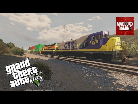 CSX & BNSF Engines in GTA 5 | Over 80 different skins | 1440p 60 Fps | MaddoxxGaming