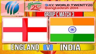 (Cricket Game) ICC T20 World Cup 2014 - England v India Group C Match 3