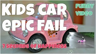 Kids car epic fail ★ 7 second of happiness FUNNY Video 😂