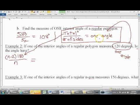 How to Find the Number of Sides of a Regular Polygon Given One Angle