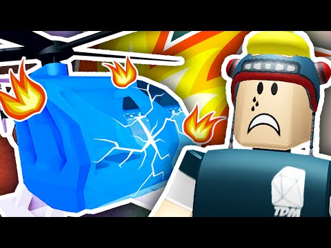 CRASHED MY NEW HELICOPTER!! | Roblox Plaza