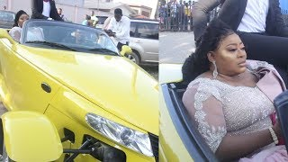 AYO ADESANYA MADE AN ELEGANT ENTRY TO HER 50TH BIRTHDAY BASH WITH NEW TOY