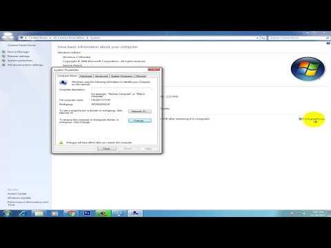 How To Change Computer Name On Windows 7 Easily Urdu/Hindi