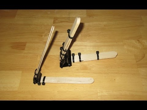 How to Make a POWERFUL Binder Clip Mini Catapult