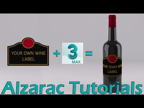 3ds max tutorial - Creacion de etiquetas para botellas ( English CC)