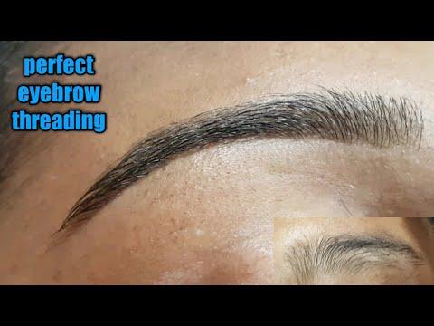 Perfect eyebrow threading/painless eyebrow threading /How to make good shape eyebrow threading