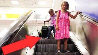 Airport Escalator Fail!