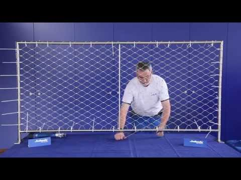 Jakob Rope Systems - Attach wire web net to frame instructions