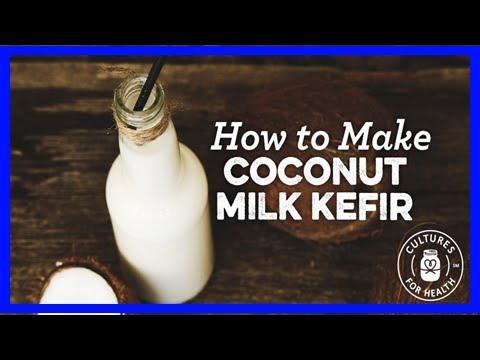 Coconut milk kefir - 3 ways!