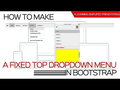 Create a Collapsed Navigation Drop Down Menu in Bootstrap