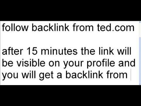 Pr-8 do-follow backlink from ted.com