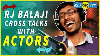 Rj Balaji Cross Talks With Actors