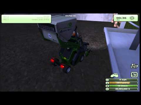 Farming Simulator 2013 Feeding cows