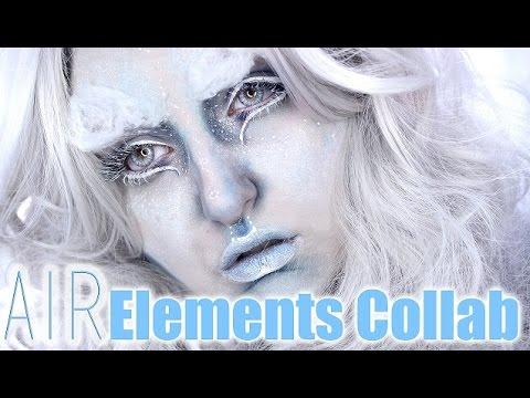 AIR INSPIRED Makeup Tutorial   ELEMENTS COLLAB   W/ Carah Amelie, NikkiaJoy, BeautyMuseMakeup