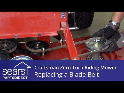 How to Replace a Craftsman Zero-Turn Riding Mower Blade Belt
